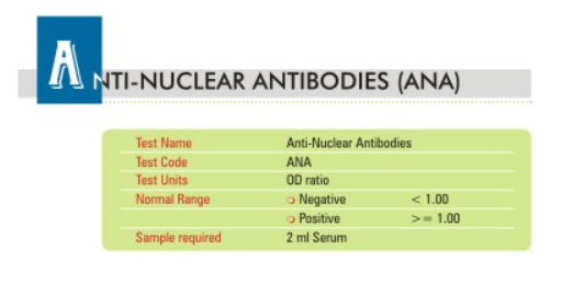 Anti Nuclear Antibody Test (ANA) at Thyrocare